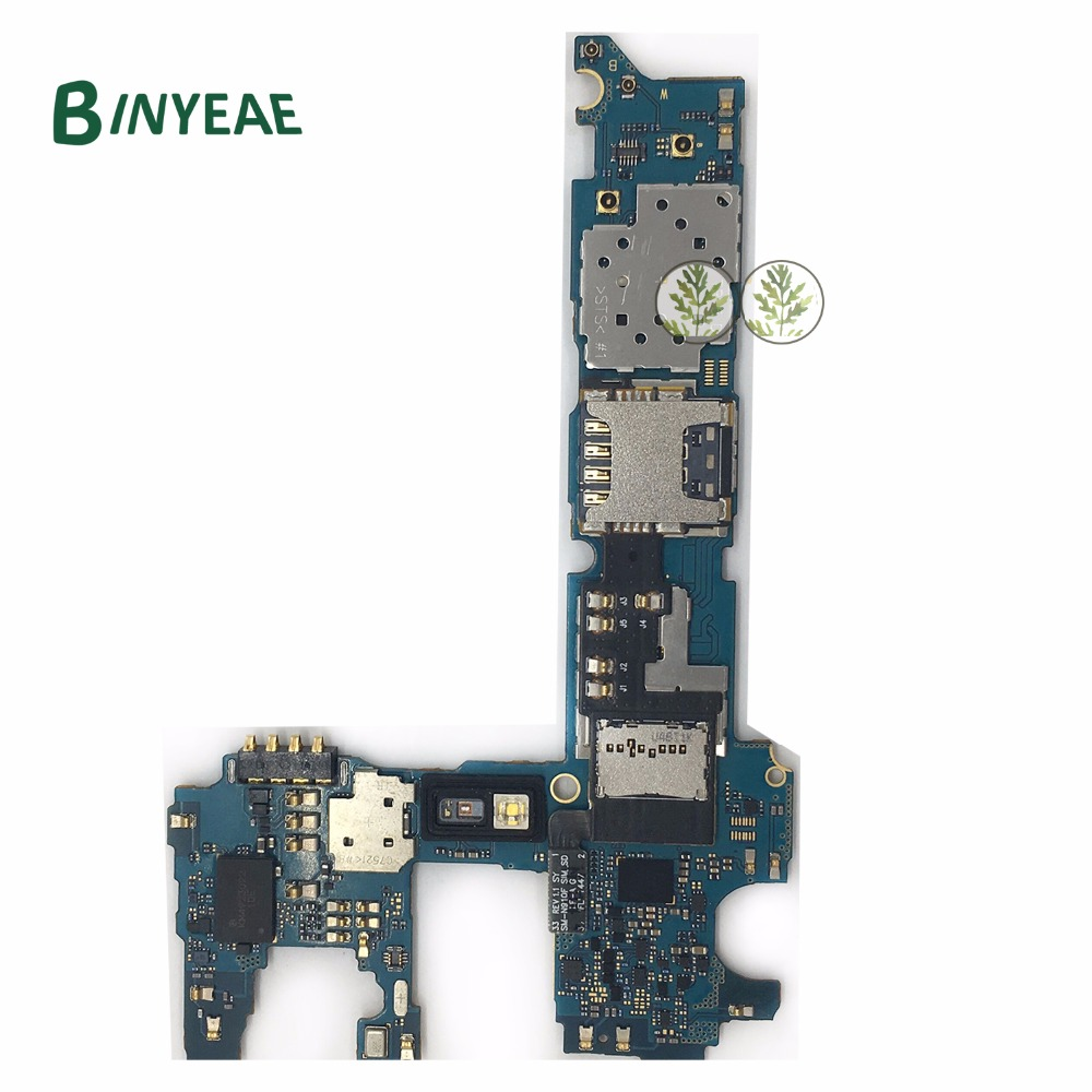 BINYEAE Original Unlocked Main Motherboard Logic Board Clean Imei 32GB Replacement For Samsung Galaxy Note 4
