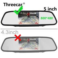 5 дюймов HD заднего вида внутреннее зеркало автомобиля мониторы 2CH видео вход высокое разрешение 800*480 DC 12 В угол автомобиля зеркало