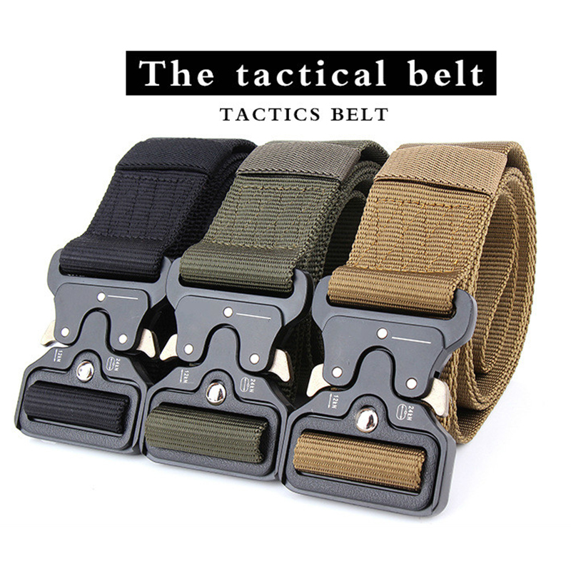 New  SWAT Military Equipment Army Belt Men's Heavy Duty US Soldier Combat Tactical Belts Sturdy  Nylon Waistband