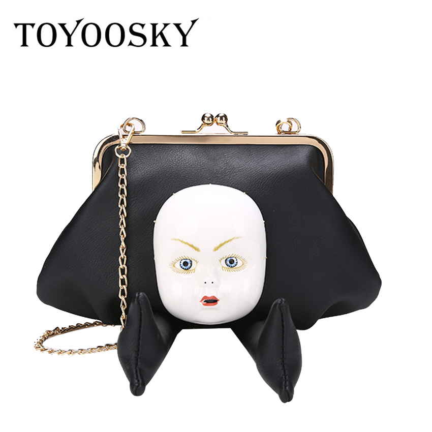 TOYOOSKY New 2018 Women bag Ceramic doll shoulder bags female luxury designers handbags personality crossbody bags Japan Style