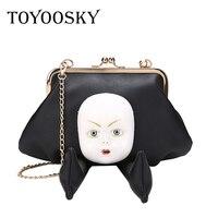 TOYOOSKY Novo 2018 bolsas de designers de sacos de ombro do saco Das Mulheres da boneca de Cerâmica de luxo feminino personalidade crossbody sacos de Estilo Japão