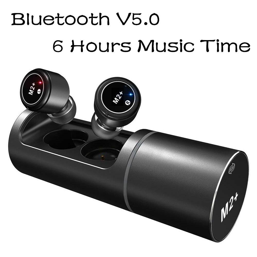Bluetooth 5.0 Earphones TWS Wireless Earpieces Handsfree Earbuds Sports Cordless In-Ear Headsets with Mic Charger BoxBluetooth 5.0 Earphones TWS Wireless Earpieces Handsfree Earbuds Sports Cordless In-Ear Headsets with Mic Charger Box