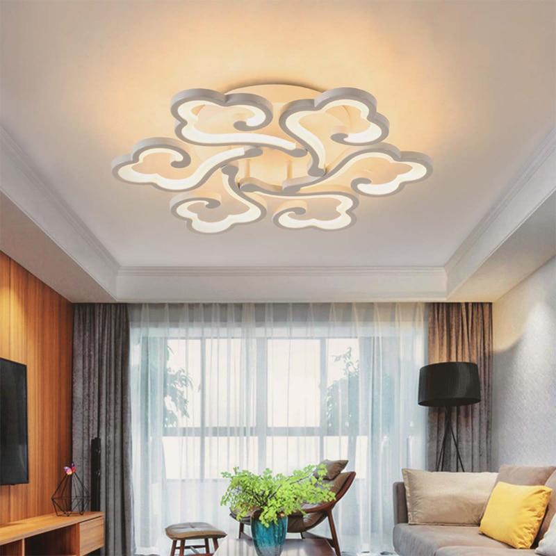 Simple Modern Ceiling lights living room dining room bedroom LED ceiling lamp white acrylic Xiangyun art Light fixtur AC100-240V