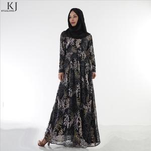 Adult Muslim lace stitching fake two pieces abaya fashion dubai islamic beautiful abayas wq739 prayer service clothing dropship