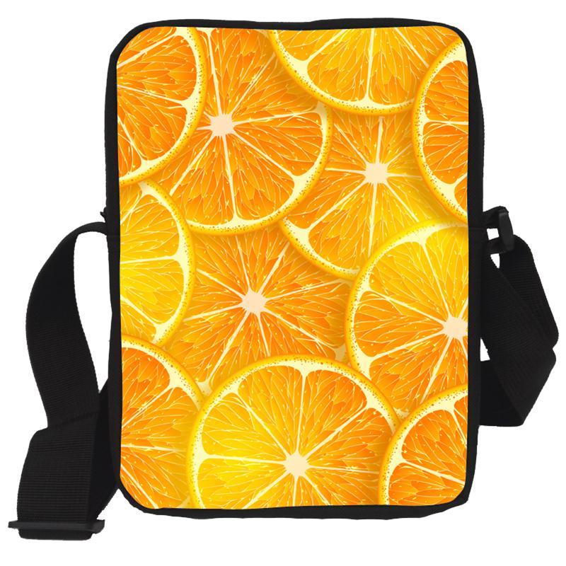 Brand Design Women Messenger Bags Cute Fruit salad with ...