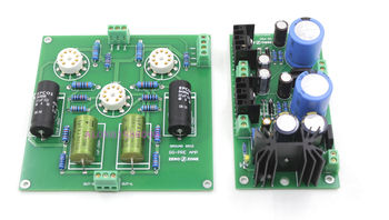 Assembeld Ground Grid GG Tube Preamplifier + Power Supply Board  (Without Tubes)