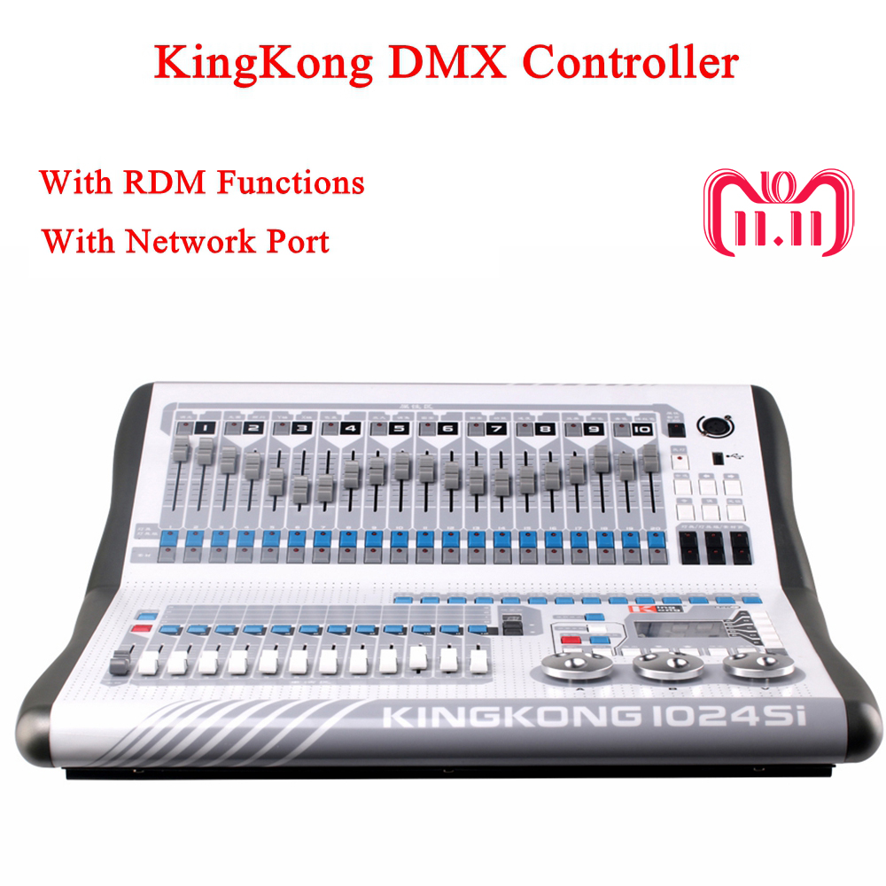 все цены на KingKong 1024Si DMX Controller DJ Equipment DMX512 Console Stage Lighting For LED Par Moving Head Spotlights Disco DJ Controlle
