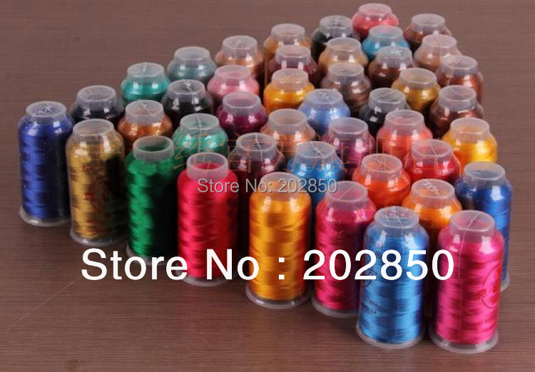Embroidery Thread,100% Rayon,Low Tenacity,Super-Gloss,Very Good Quality For Machine And DIY Hand Embroiderying Work,2 Pcs/Lot!
