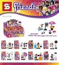 Girl Friend Minifigure Mia Danielle Andrea Marie Emma Stephanie Olivia Building Blocks Figures Kids Toy Gift SY286