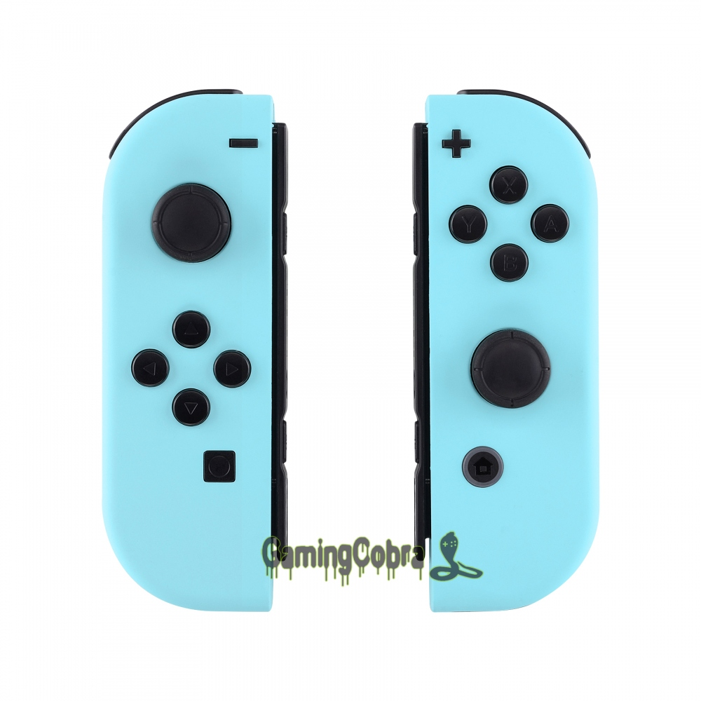 Custom Soft Touch Heaven Blue Controller Housing With Full Set Buttons DIY Replacement Shell Case For Nintendo Switch Joy-Con