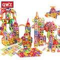 QWZ 400 шт. Мини магнитные блоки Brinquedos модели строительные игрушки Магнитные дизайнерские кирпичи магнитные игрушки Развивающие детские пода...