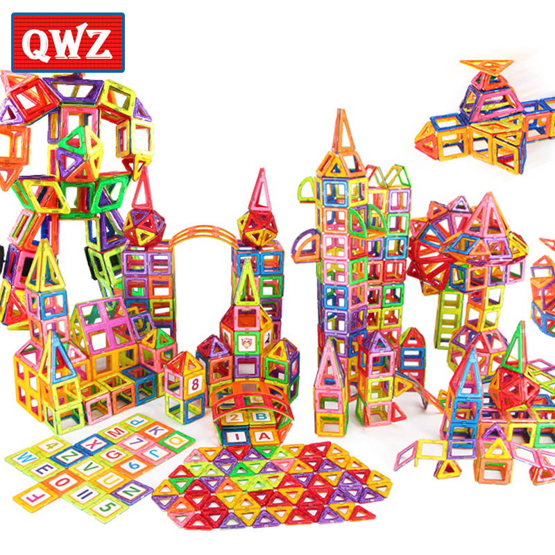 QWZ 400pcs Mini Magnetic Blocks Brinquedos Models Building Toy Magnetic Designer Bricks Magnetic Toys Educational Kids Gifts