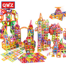 QWZ 400pcs Mini Magnetic Blocks Brinquedos Models Building Toy Magnetic Designer Bricks Magnetic Toys Educational Kids Gifts цена
