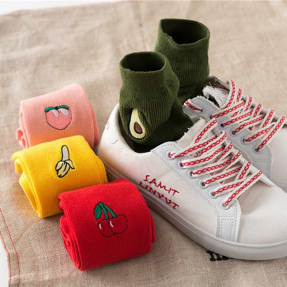 جوارب هاراجوكو الخفيفة للشتاء والخريف والفاكهة ، جوارب مطبوعة بالفاكهة الإبداعية ، جوارب هدية للتدفئة ، جوارب مضحكة سعيدة