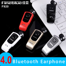 FineBlue F920 Mini Wireless Auriculares Driver Bluetooth Headset Calls Remind Vibration Wear Clip Sports Running Earphone(China)