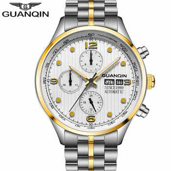 relogio masculino GUANQIN new Brand Luxury Men Automatic Date16100 Clock Men's Business Full Steel Waterproof Mechanical Watch A - DISCOUNT ITEM  50% OFF All Category