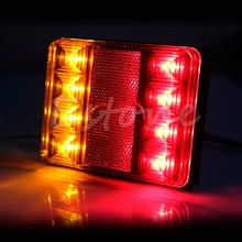 1 Pair LED Waterproof Truck Trailer CARAVAN Stop Brake Tail Light Indicator Lamp стоимость