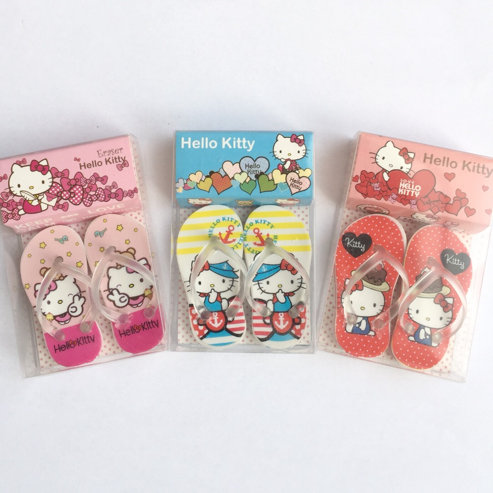 20c4ba015 Cheap Eraser, Buy Directly from China Suppliers:2pcs /Set Cute Slippers  Design Hello