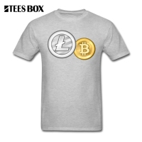 T Shirt Litecoin Bitcoin Best T-Shirts Adult Round Collar Casual Creative Design Short Sleeve Youth Tee Shirts Shopping Cotton