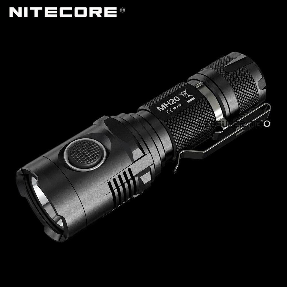 Meilleur Vente Nitecore MH20 CREE XM-L2 U2 LED paume de la main Rechargeable USB lampe de Poche 1000 Lumens