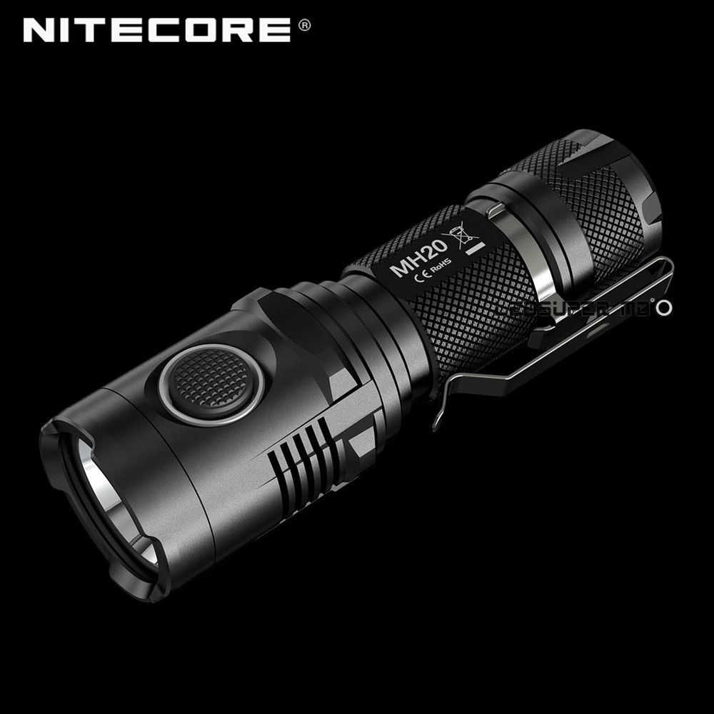 Palm-sized Nitecore MH20 CREE XM-L2 U2 LED Rechargeable USB Flashlight 1000 Lumens
