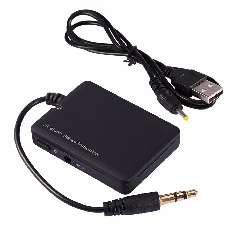iPod 2 in 1 Wireless Audio Transmitter and Receiver Adapters Portable USB Dongle Bluetooth Receivers Transmitter for TV MP3//MP4,ProJector CD player PSP Car Audio Stereo Speaker Headphone Gold