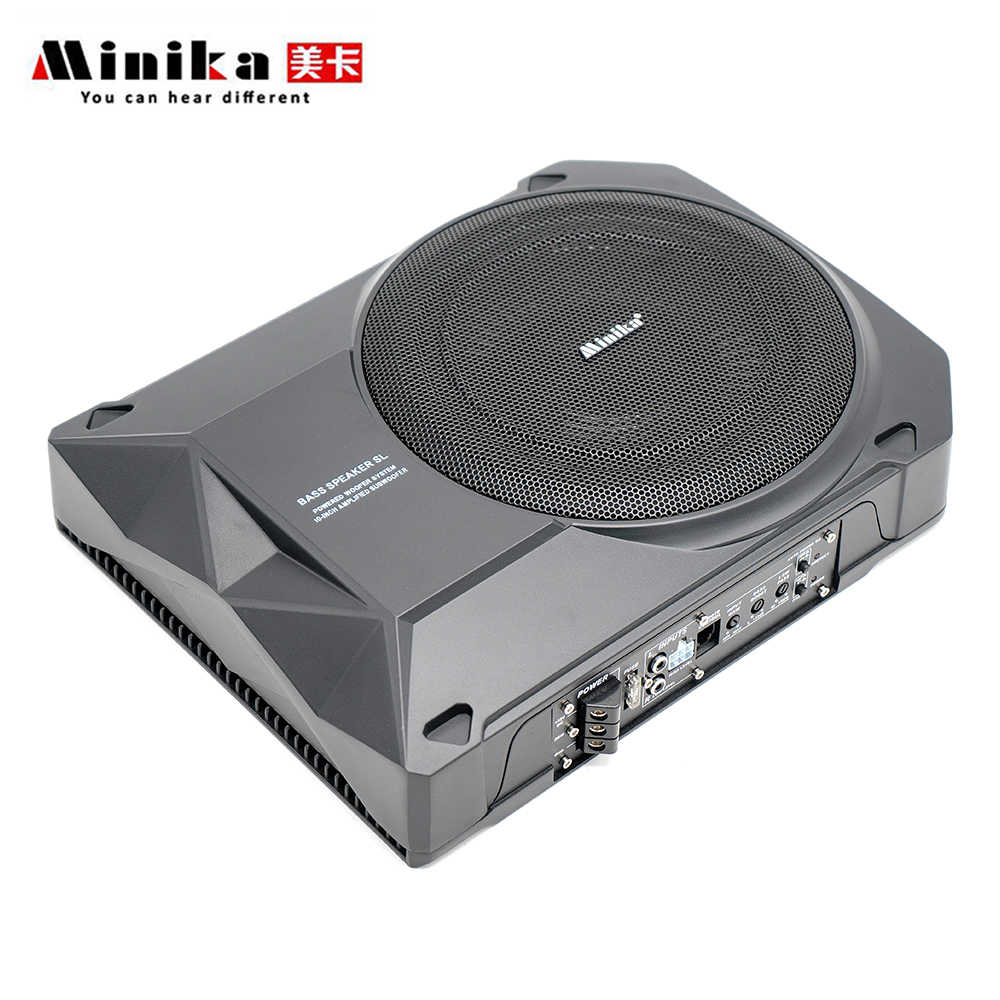 10 Inch Active Subwoofer Car Audio Speakers and Subwoofer Amplifier Car Speaker Bass Under Seat Subwoofers Auto Car Audio System
