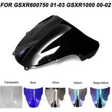 ABS Windscreen For Suzuki GSXR 600/750/1000 GSXR600 GSXR750 2001-2003 GSXR1000 2000-2002 Motorcycle Windshield Wind Deflectors motorcycle black chain guards cover fit for suzuki gsxr600 gsxr750 gsxr1000 2001 2002 2003 2004 2005 gsxr 600 750 1000