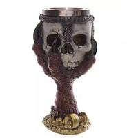 Dragons Claw Warrior Skull Gothic Goblet Gothic Spine Chalice Pagan Samhein Halloween Ornament Party Drinking Glass