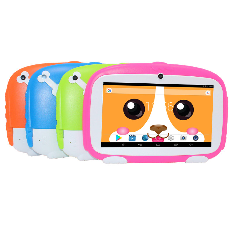 Education Drawing Tablet 7 Inch Kids Tablet 1GB 8GB Quad Core HD Android 6.0 Tablet 1024*600 Cute Shap
