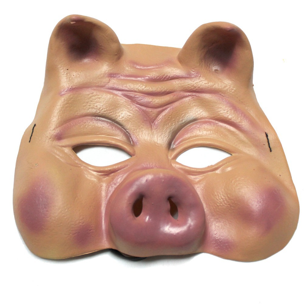 Halloween Makeup The ball Performance Pig Face Mask-in Party Masks ...
