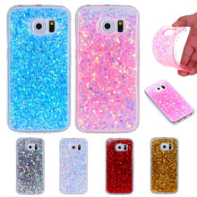 hot deal buy for samsung s7 edge g935f shining case soft silicone tpu frame colored shiny glitter back cover case for samsung galaxy s7 edge