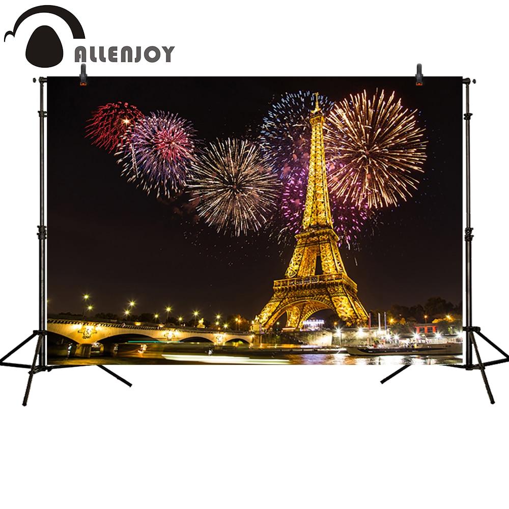 Allenjoy Fotograafia tagaplaanid Ilutulestikud Golden Paris Tower - Kaamera ja foto - Foto 1