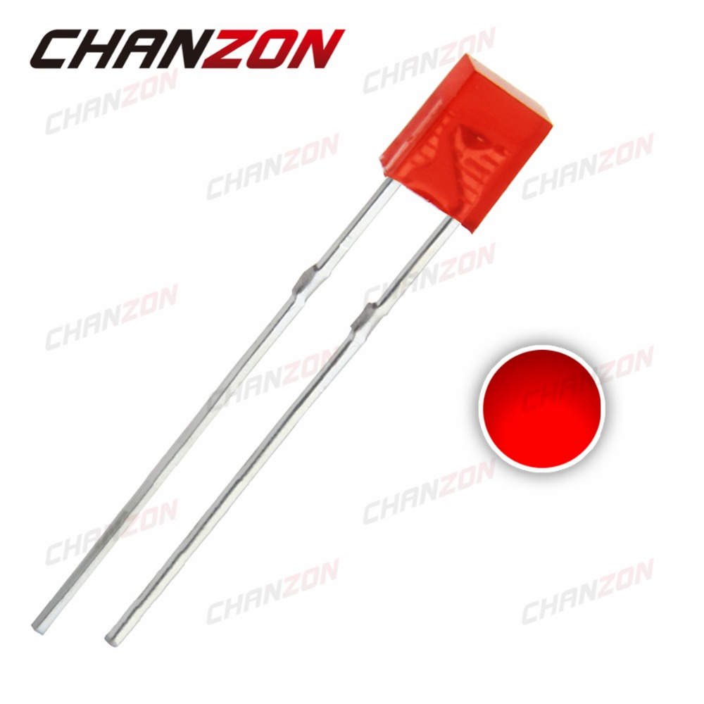 500PCS 2x3x4mm Rectangle LED Red Colour Red Light Emitting Diode