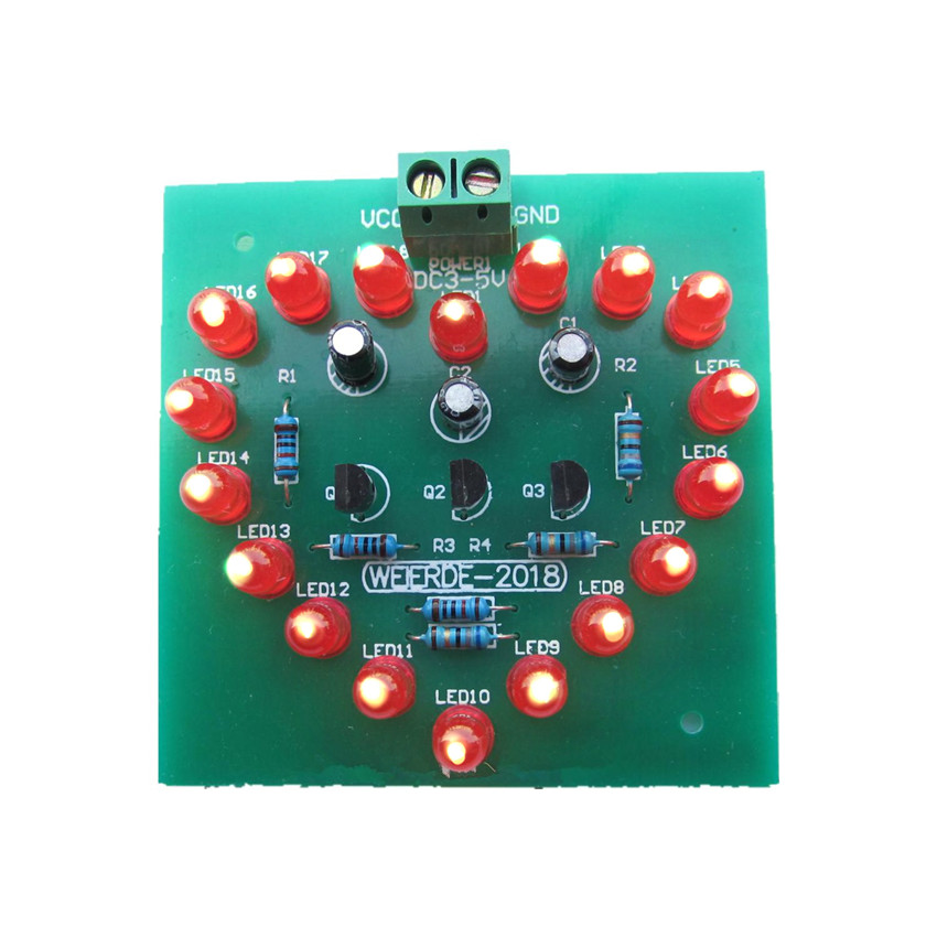 LED Heart flash lamp Water lamp Electronic production suite Love lights cycle lamp parts diy kit