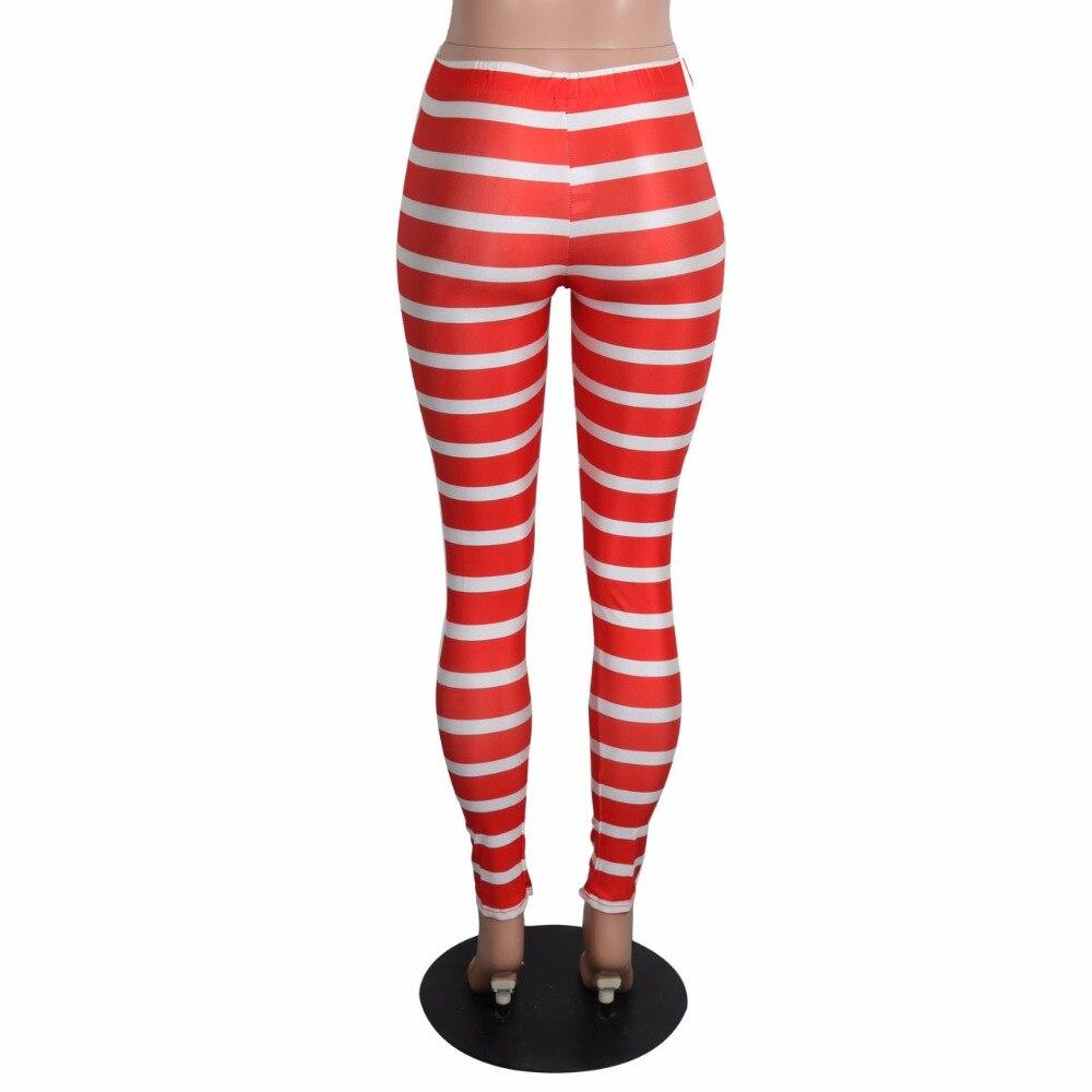 32093354d6 US $15.83 |Aletterhin Womens Red White Striped Leggings Outwear Bodycon  Pants Autumn Leggings Lady Legins High Elasticity Leggings Trousers-in ...