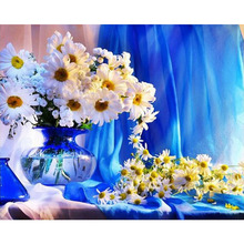 Still life chrysanthemums diamond Embroidery diy painting mosaic diamant 3d cross stitch pictures H452