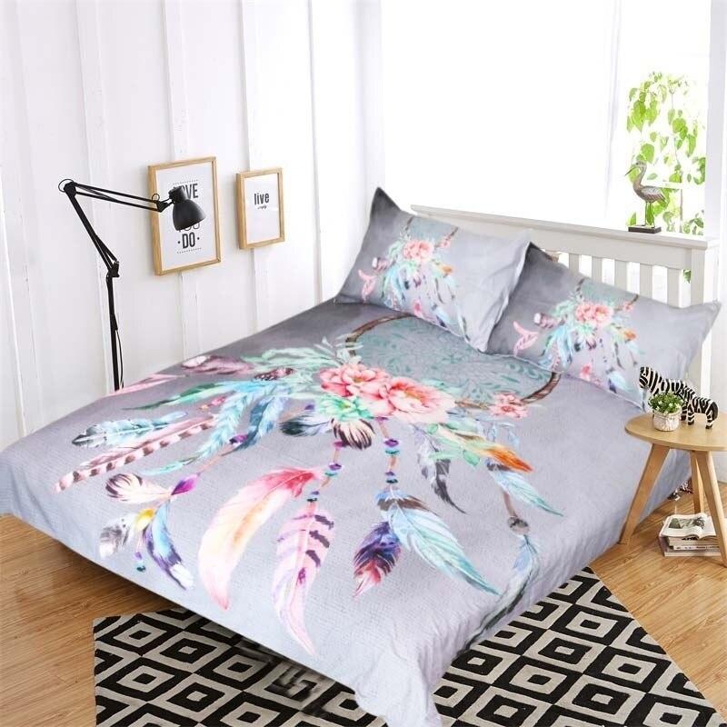 Большой Ловец снов постельные принадлежности 3 шт Ловец снов пододеяльник набор Бохо Доона крышка хиппи стиль