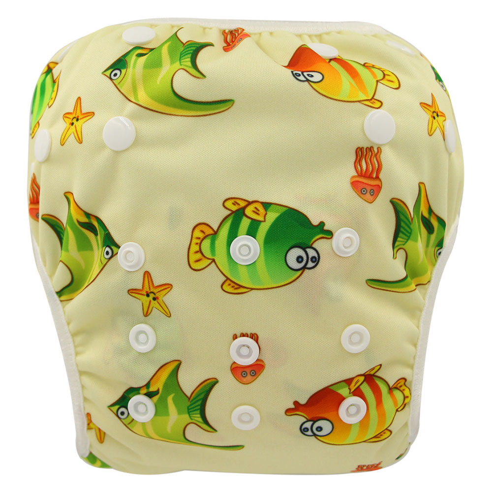 Ohbabyka Baby Swim Diapers New Waterproof Infants Swim Nappy Washable Diaper Cover One Size Reusable Training Pants For 0-3Years