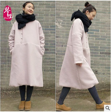 New products listed in the winter 2016,  original design  cotton  loose big yards Women's thickening cotton-padded clothes coat цена и фото