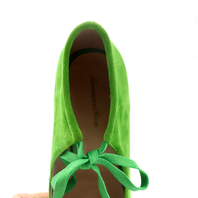 ANMAIRON New Spring High Heels Pumps Women Shoes Pointed Toe Pearl Beading Ladies Pumps Green Black Lace-up Shoes Woman Pumps