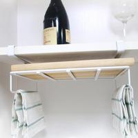 Cabinet Cupboard Door Hanging Rack Shelf Iron Towel Holder Kitchen Tableware Cutting Boards Pot Lid Dish