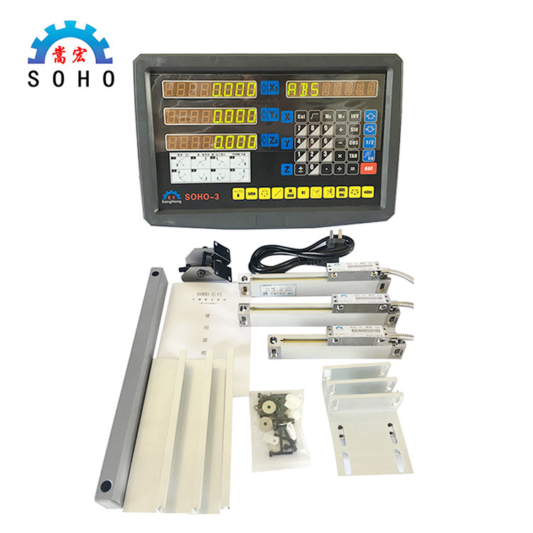 Complete Set 3 Axis Dro Digital Readout System,3 Axis Digital Readout Kits For Milling/ Lathe/ Drill Machine цена