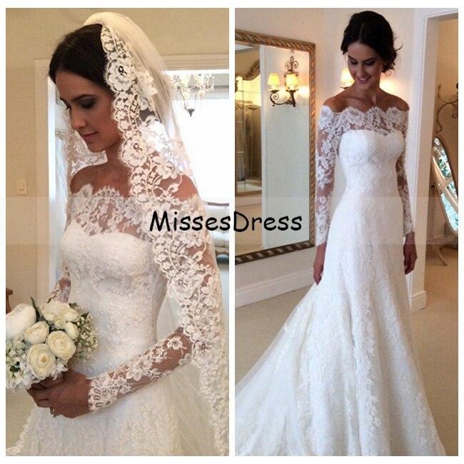 Long sleeve wedding dress 2017 mermaid boat neck applique for Long sleeve mermaid wedding dresses 2017