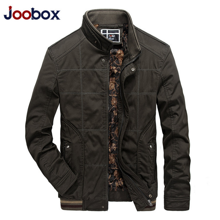 JOOBOX 2017 Autumn Winter Fleece Warm Mens jackets coats New Casual Men Thermal Breathable Jacket Army Green Waterproof jackets