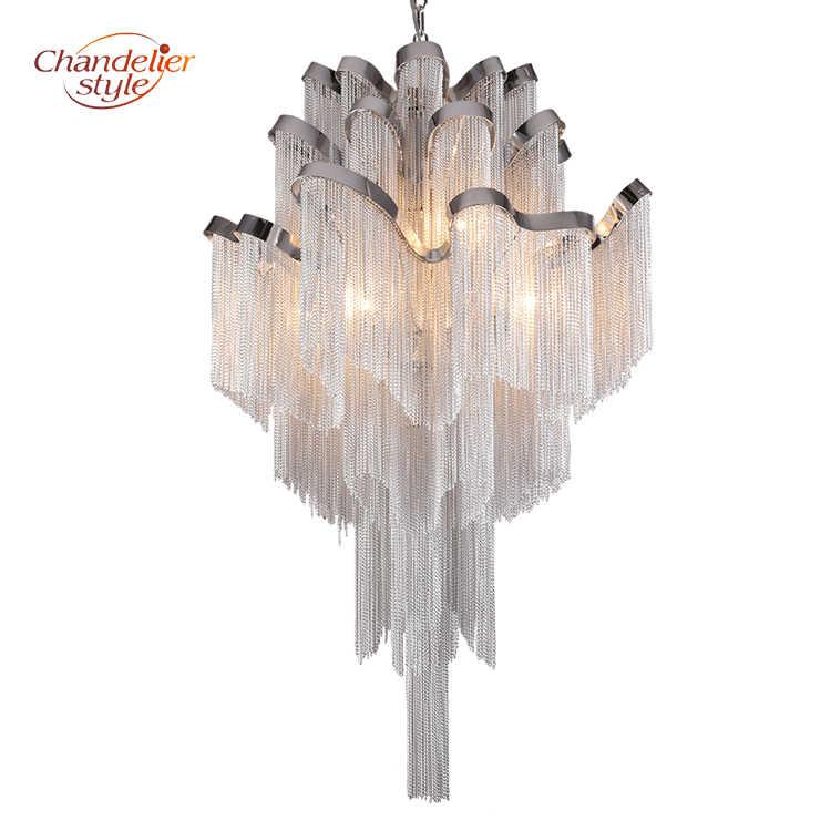 Современная люстра с кисточками освещение Alluminum цепи люстры свет крепеж для подвесных светильников для дома отель Декор для ресторана