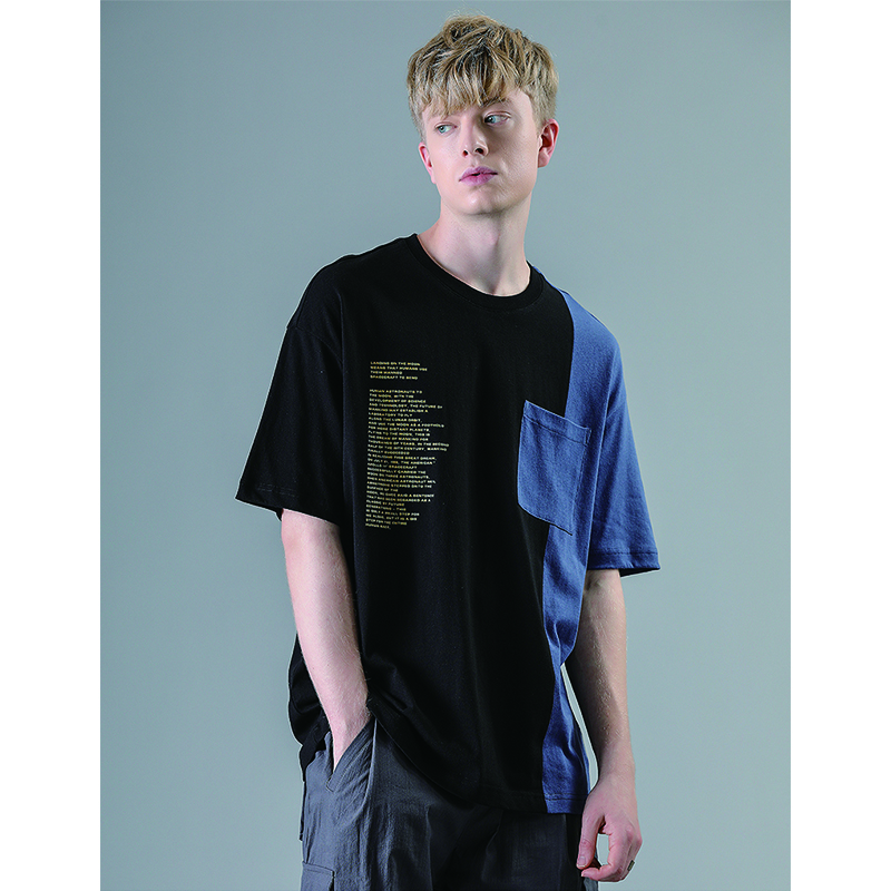 HFNF men 39 s womens short sleeved Tops casual T shirt stitching pattern printing T shirt round neck cotton males females T shirt in T Shirts from Men 39 s Clothing