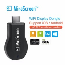Chormcast MiraScreen 2.4G Apoyo MiraCast Android IOS WiFi Dongle Libre de La Instalación 1080 P Wireless Display Stick de TV