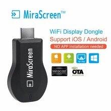 Wi-fi Dongle Chormcast MiraScreen 2.4 Г Поддержка MiraCast Android IOS Бесплатная Установка 1080 P Дисплей Беспроводной TV Stick