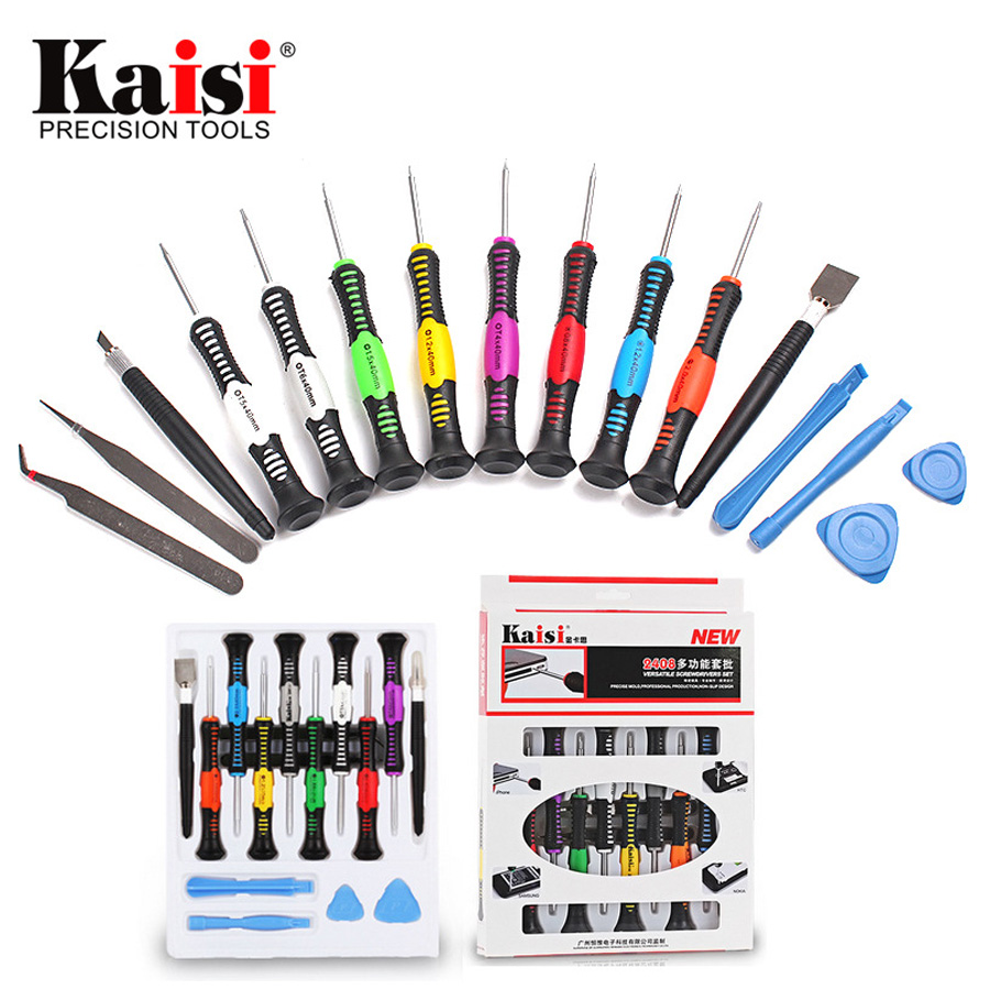 kaisi precision 16 in 1 screwdriver set mobile phone repair tool for iphone laptops. Black Bedroom Furniture Sets. Home Design Ideas